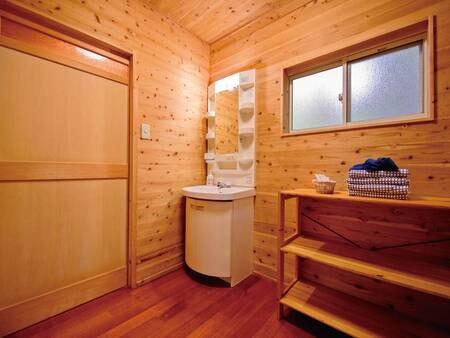客室専用風呂付きログハウス(一例)