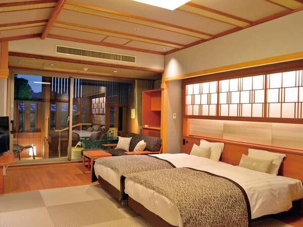 白雲本館 温泉露天風呂付客室◆分煙/一例