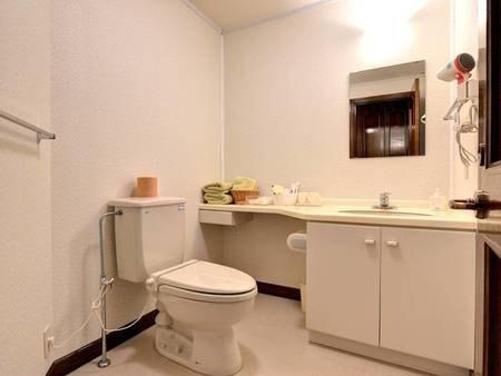 *各客室にウォシュレットトイレを完備。