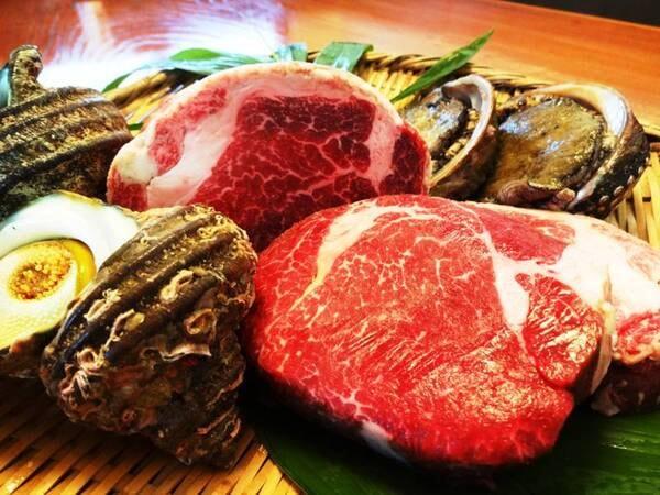 【贅極み◇春夏】紀州日高産『アワビ』と幻のご当地牛を贅沢にいただく『熊野牛ステーキを♪