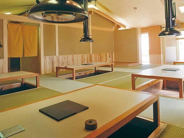 【食事会場/例】テーブル席または掘り炬燵席