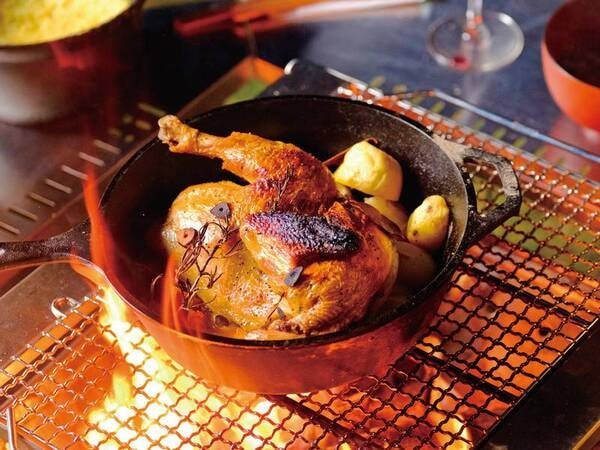 夕食ローストチキン/一例