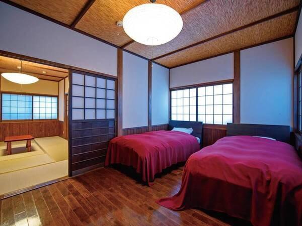 【離れ】半露天風呂付き2階建て和洋室/一例