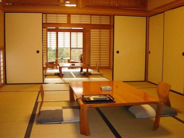 露天風呂付き客室、離れ和室2間一棟タイプ/一例