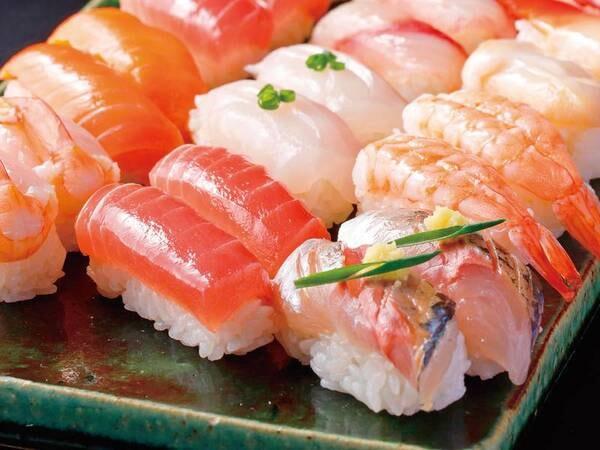 【夕食/例】約10種類の握り寿司も食べ放題!房総で水揚げされた新鮮ネタで握りたてのお寿司をお召し上がりください