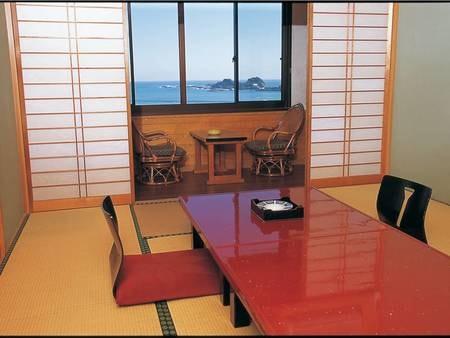 【上層階和室/例】全室オーシャンビュー!上層階より太平洋を一望
