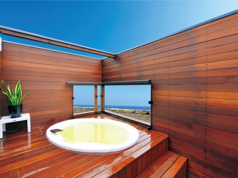 【貸切風呂】最上階より白子町と太平洋を望む