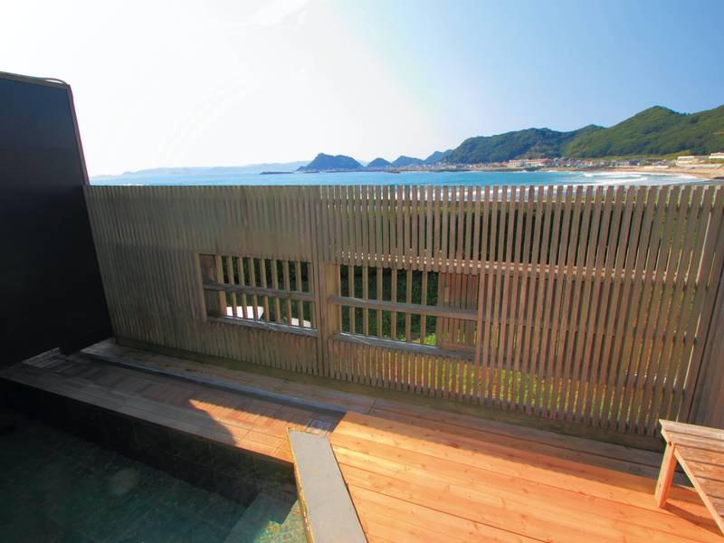 【華海の湯(はなうみのゆ)】大浴場備え付けの露天風呂