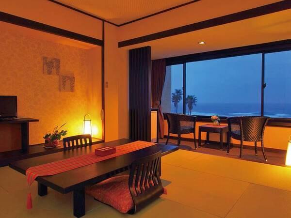 【和室/例】10畳和室。全室から大海原を望む