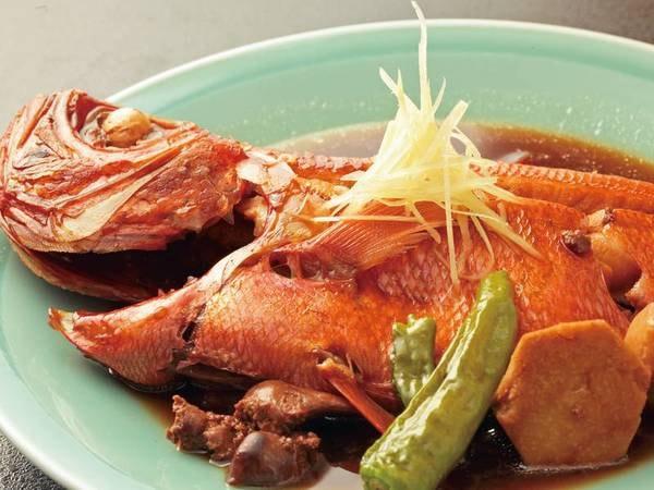 【夕食/例】金目鯛の煮付け(2~3名に一尾相当)