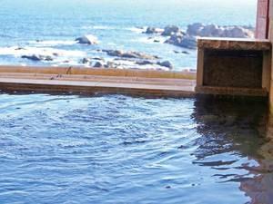 【半露天風呂】太平洋を一望できる半露天風呂 ※温泉ではありません