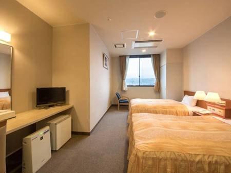 *【客室一例/ツイン】ベッド派のお客様にはこちらのお部屋!