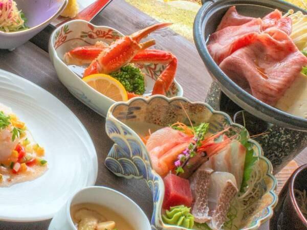*夕食一例/グレードアッププラン(冬)通常のお夕食内容に2品プラス。