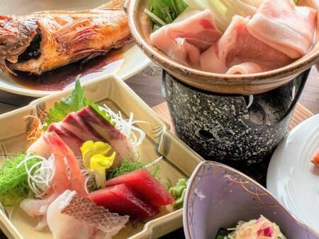 *夕食一例/スタンダードプラン(冬)旬の恵みを味わえる、新潟ならではの味わい。