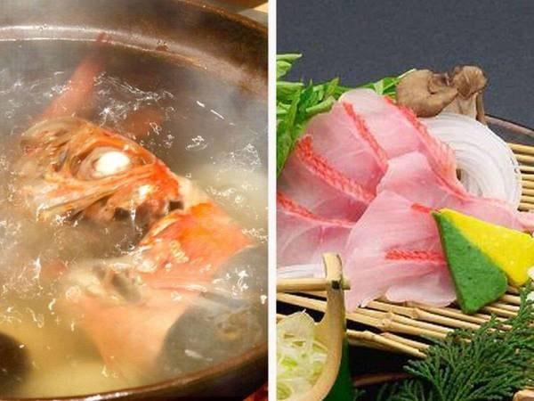 【選択料理/例】金目鯛は塩炊かしゃぶしゃぶで!