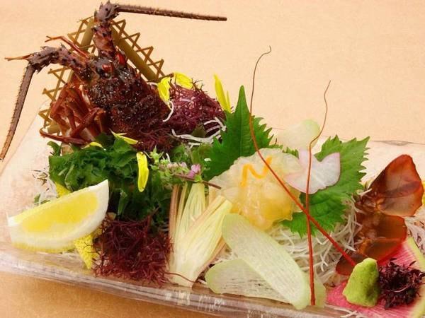 【磯会席(3大グルメ付き)/例】伊勢海老のお刺身の頭は翌朝にお味噌汁に致します