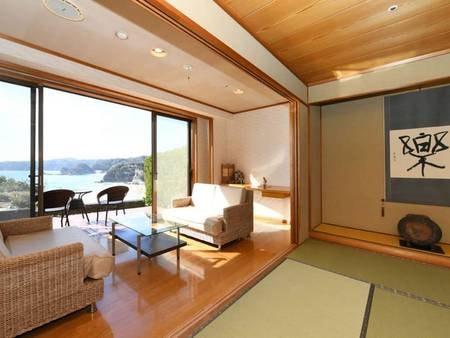 【客室/例】4階海側岩露天風呂付き特別室 【禁煙】