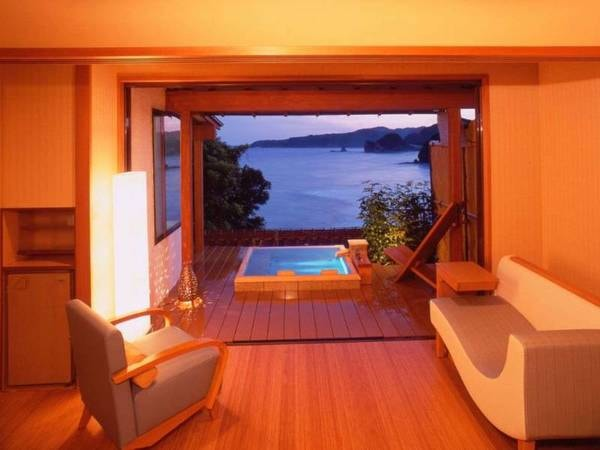 【客室/例】海側露天付和室10畳コーナースイート禁煙