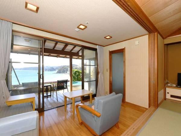 【客室/例】海側露天和室10畳【ダイニング食/禁煙】※信楽焼の露天風呂タイプ例