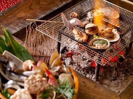 炭火焼◆いろり端でスタンダード海鮮炭火焼/一例