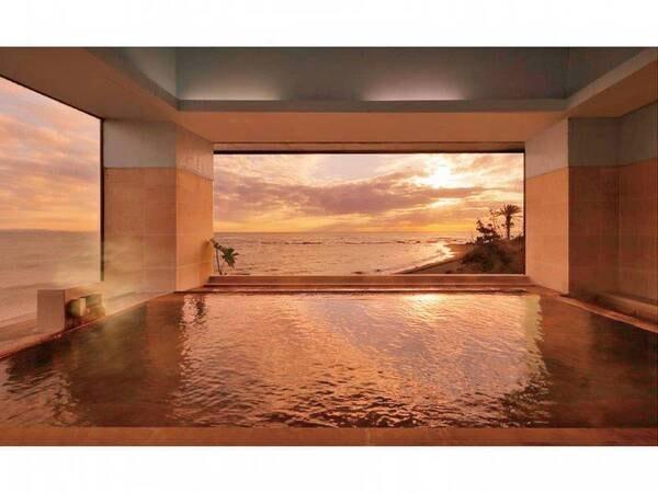 【展望風呂】早朝のご入浴では朝日を見ることができます