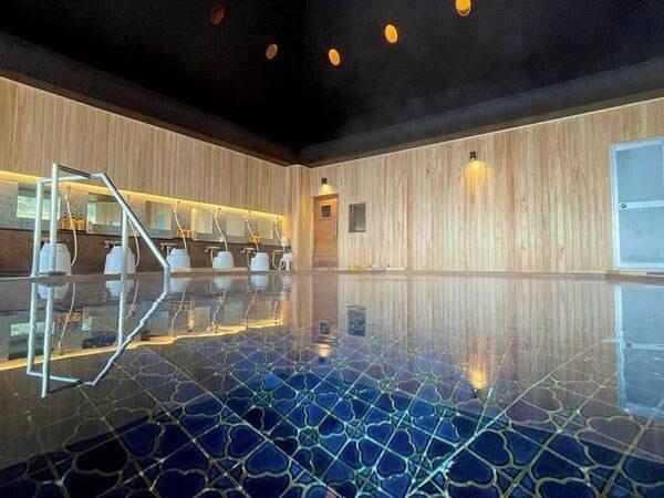 【大浴場「長寿の湯」】豊富な湯量で体の芯から温まる