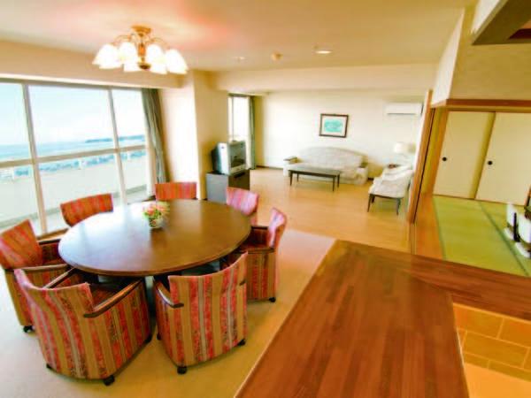 【本館客室/例】全室より海を一望!平均89㎡のスイートルーム