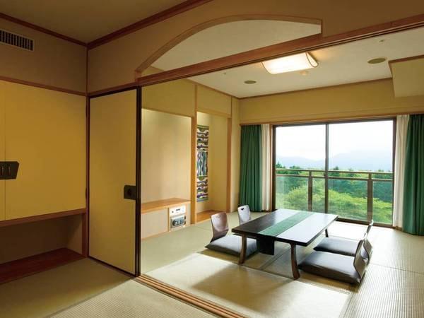 【禁煙2間和室/例】8畳+6畳の広々2間でゆったりと寛げる。「宿お任せ客室」におひとり1,000円増で確約可能!
