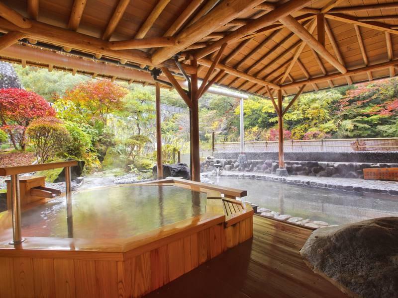 【露天風呂/滝観の湯】滝や箱根の自然に癒されながら心身憩う