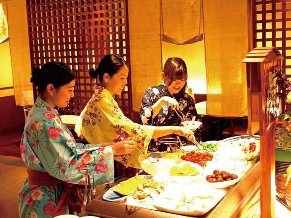 【食べ放題+季節のしゃぶ3種/例】ビュッフェコーナーも充実