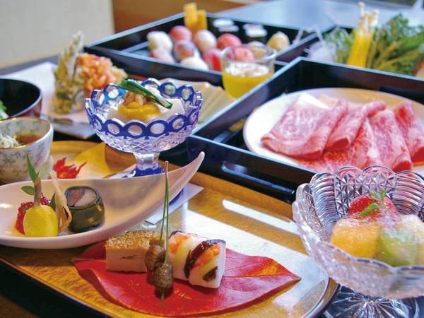 【夕食「風月」/例】特選和牛しゃぶしゃぶ、寿司、天ぷら等のコース