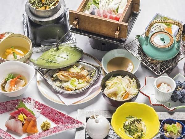 【夕食/例】地元食材にこだわった旬味溢れる創作会席をご用意