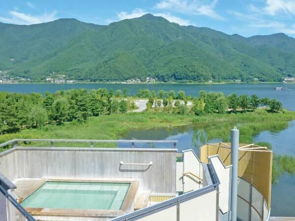 【展望露天風呂「天の川」】大パノラマをお楽しみ頂ける