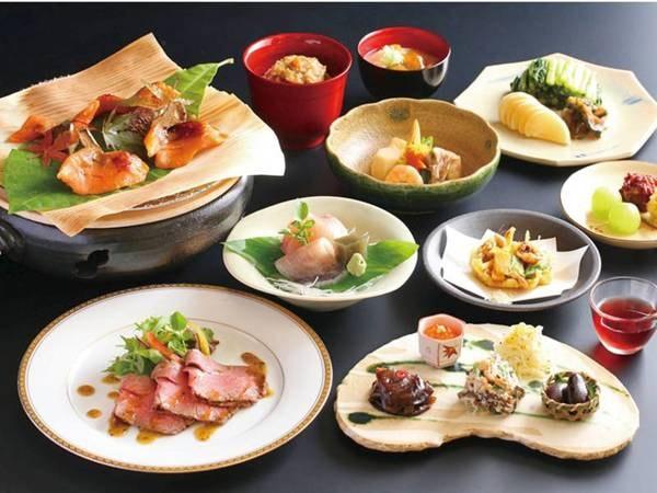 【和会席】信州サーモンや山菜など地元食材を使用した料理長こだわりの会席
