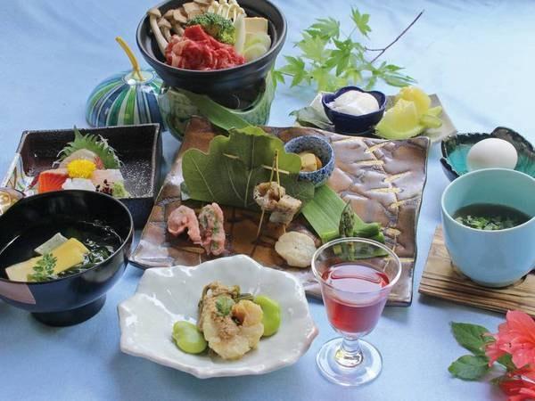 【上林ホテル 仙壽閣】滝のような自家源泉・県内最大級のかけ流し露天風呂 と、季節の滋味が踊る懐石
