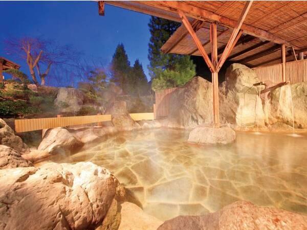 【男性露天風呂】季節によって異なる自然を感じる