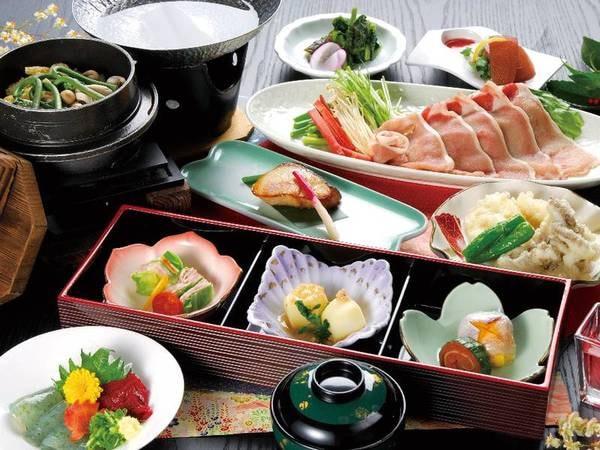 【あわび付!少量会席/例】信州の大地が育んだ食材を厳選して使用した、彩り豊かな会席料理を堪能!