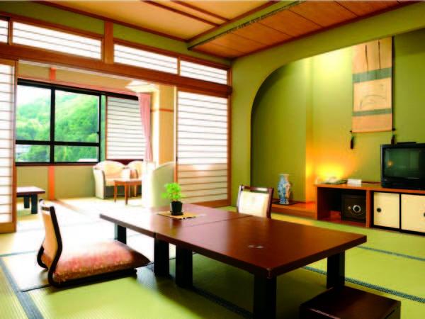 【本館二間和室/例】本館12.5畳+4.5畳+広縁付和室へご案内!