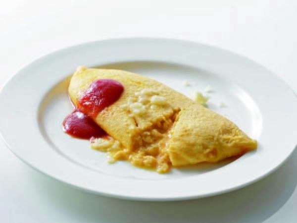 【朝食バイキング一例】ふわふわオムレツ