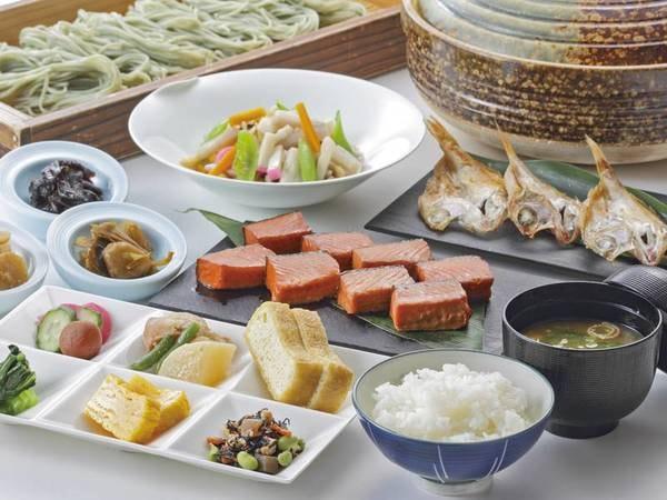 【朝食/例】魚沼産コシヒカリ・へぎそばなど和食も充実のビュッフェ
