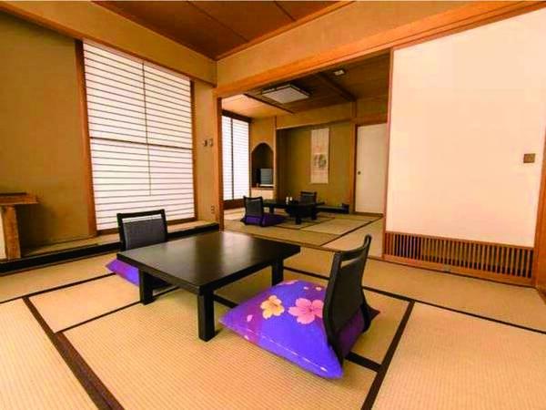 【和室2間/例】和室(10畳+6畳)の広々客室へご案内
