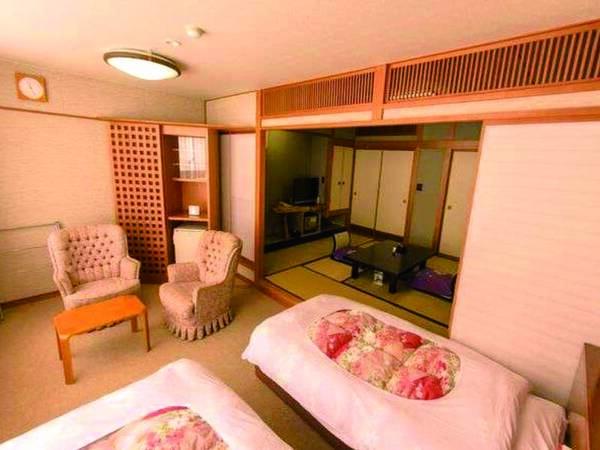 【和洋室/例】 和室(10畳)+シングルベッド2台の人気客室