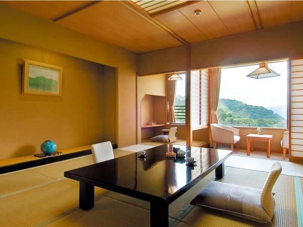 【12畳以上和室/例】美しい渓谷が望める眺望確約の広々なお部屋