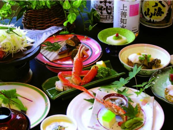 【越後味覚/例】地元食材を活かしたクチコミでも高評価の会席料理