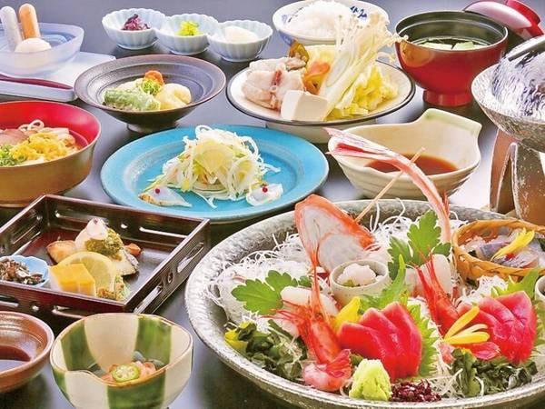【富山湾の幸会席/例】お造り、海鮮鍋など約10品のミニ会席をご用意