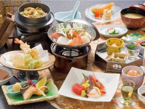 【磯花の膳/例】富山県の「食の匠」に認定された料理長がこだわり食材で創りだす会席料理
