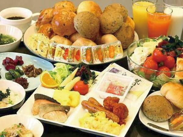 【朝食バイキング/例】当面の間、朝食は日によりバイキングまたはお弁当でのご提供となります※お弁当でのご提供の場合、朝食は客室にてお召し上がりいただくこととなります