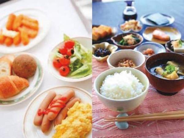 【朝食/例】和洋バイキングもしくは和洋御膳をご用意(宿まかせ)