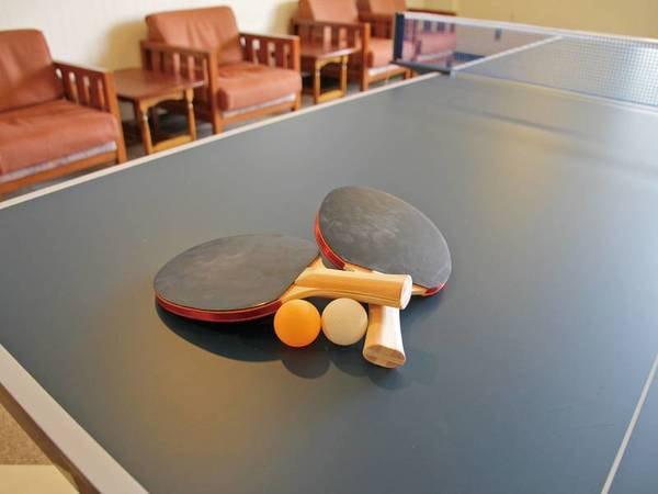 【館内施設】温泉の後は卓球で一勝負!(有料)
