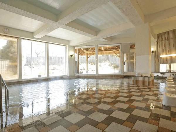 【大浴場】単純硫黄泉の温泉